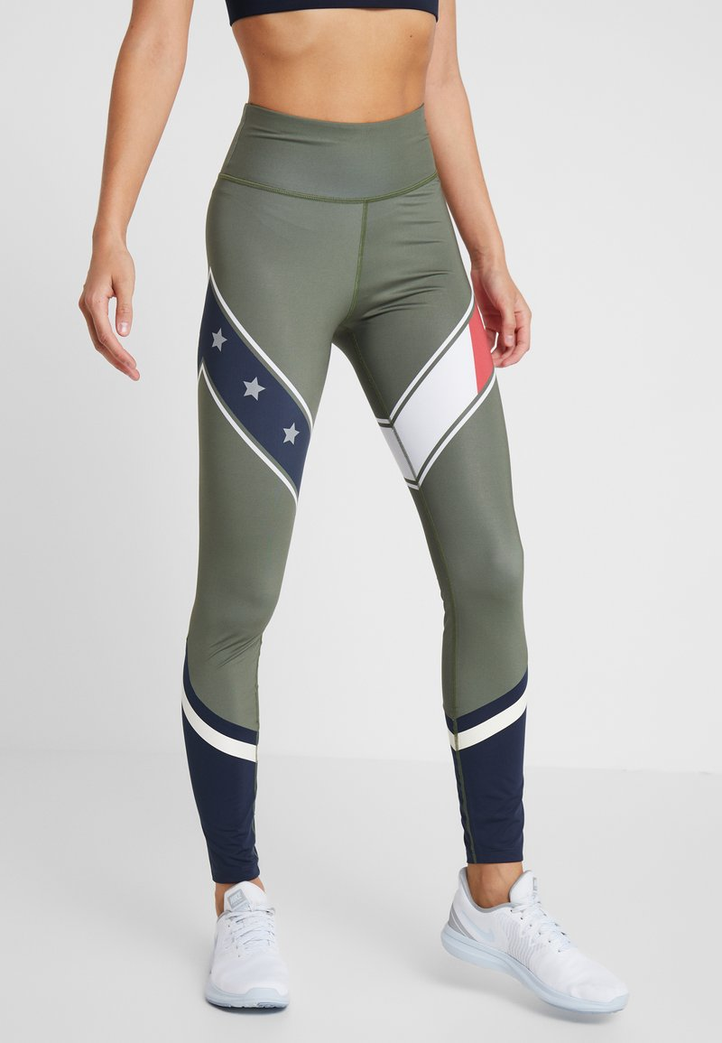 Tommy Sport - LEGGING WITH STARS  - Collants - green