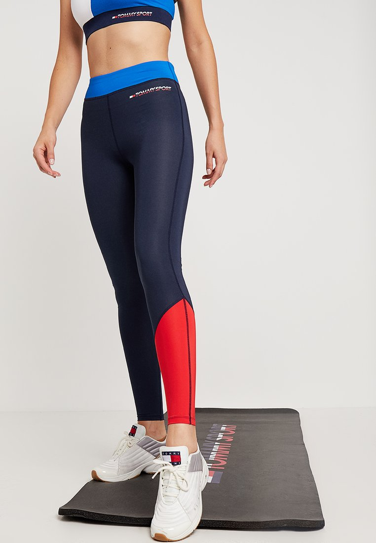 Tommy Sport - LEGGING WITH PANEL  - Collants - princess blue