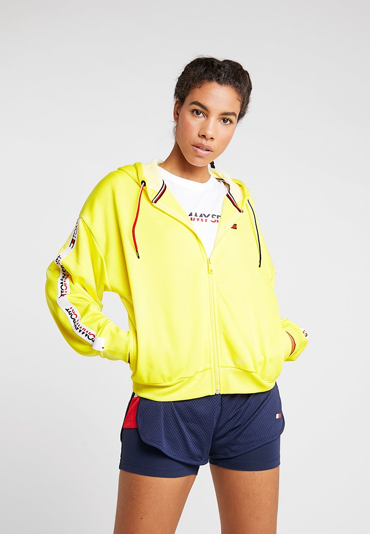 Tommy Sport - FULL ZIP HOOD - Sweatjacke - blazing yellow