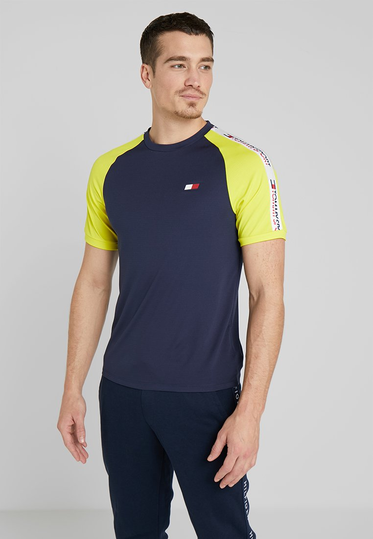 Tommy Sport - TAPING - T-shirts print - sport navy