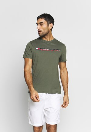 LOGO CHEST - Print T-shirt - green