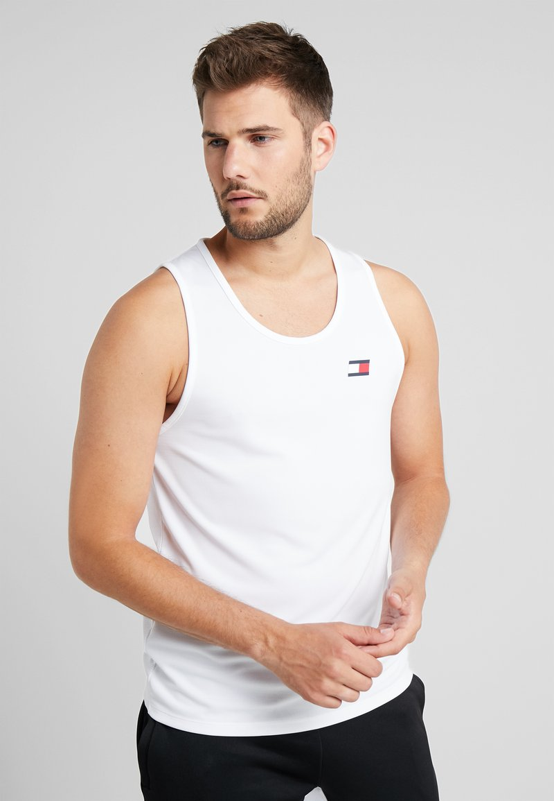 Tommy Sport - MUSCLE TANK LOGO - Funktionsshirt - white