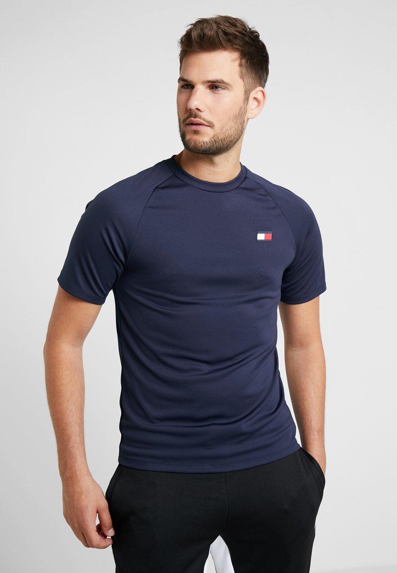 Tommy Sport - BACK LOGO - Camiseta estampada - navy