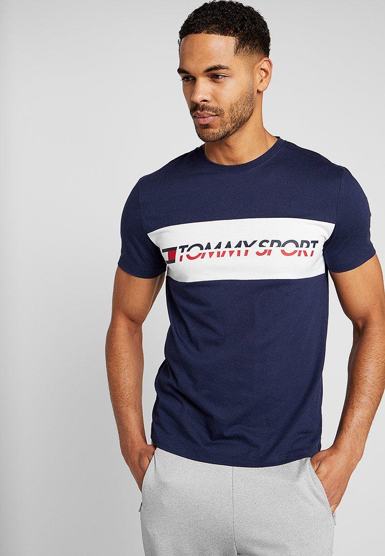 Tommy Sport - LOGO DRIVER - T-shirt imprimé - navy