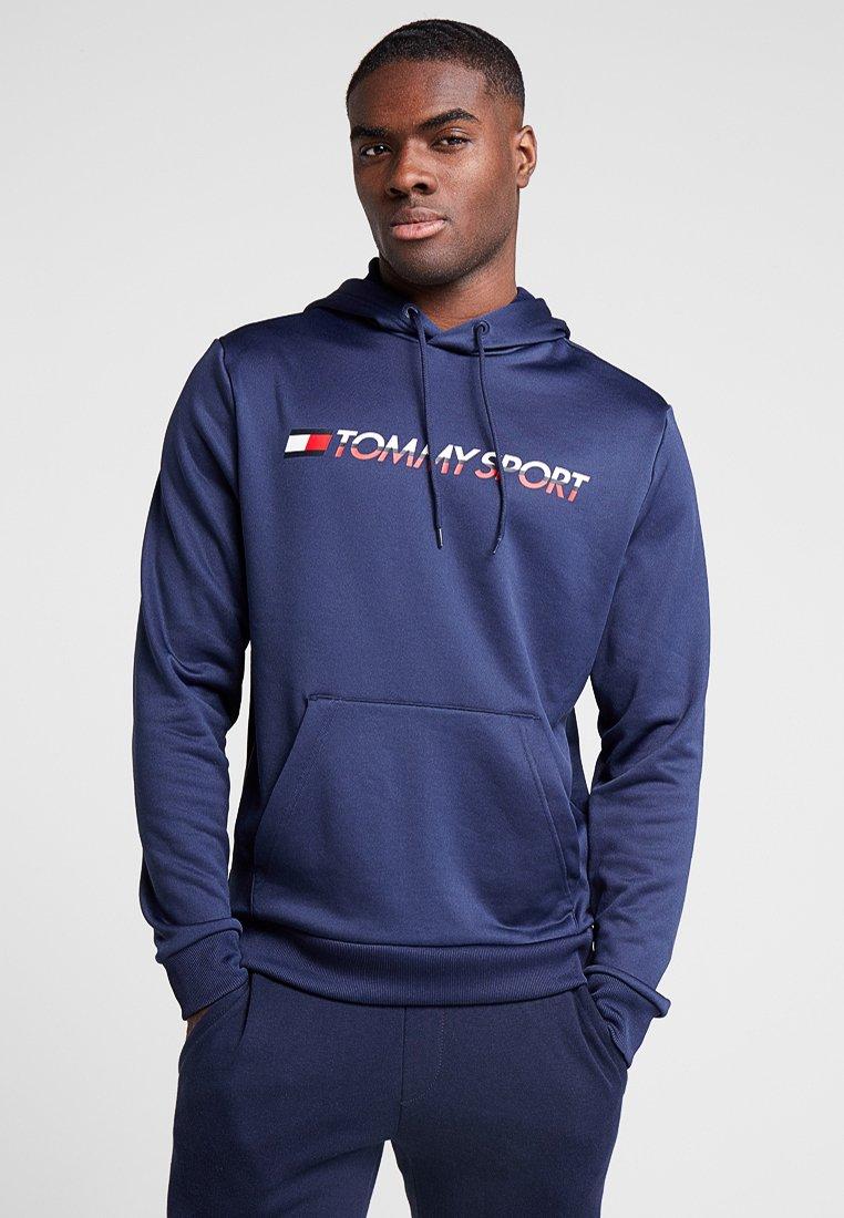 Tommy Sport - HOODY LOGO - Jersey con capucha - navy