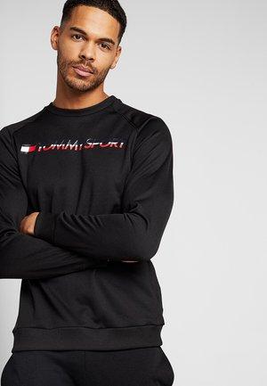 CREW NECK LOGO - Sweatshirt - black