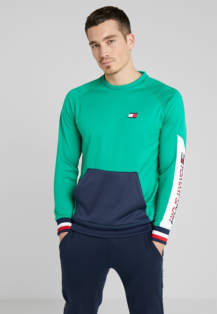 Tommy Sport - CREW NECK - Sweatshirt - golf green