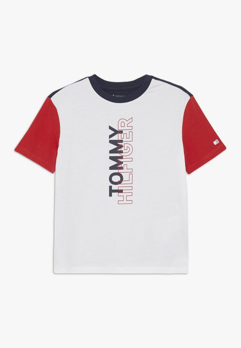 Tommy Hilfiger - SPORT COLOR BLOCK TEE - Camiseta estampada - classic white
