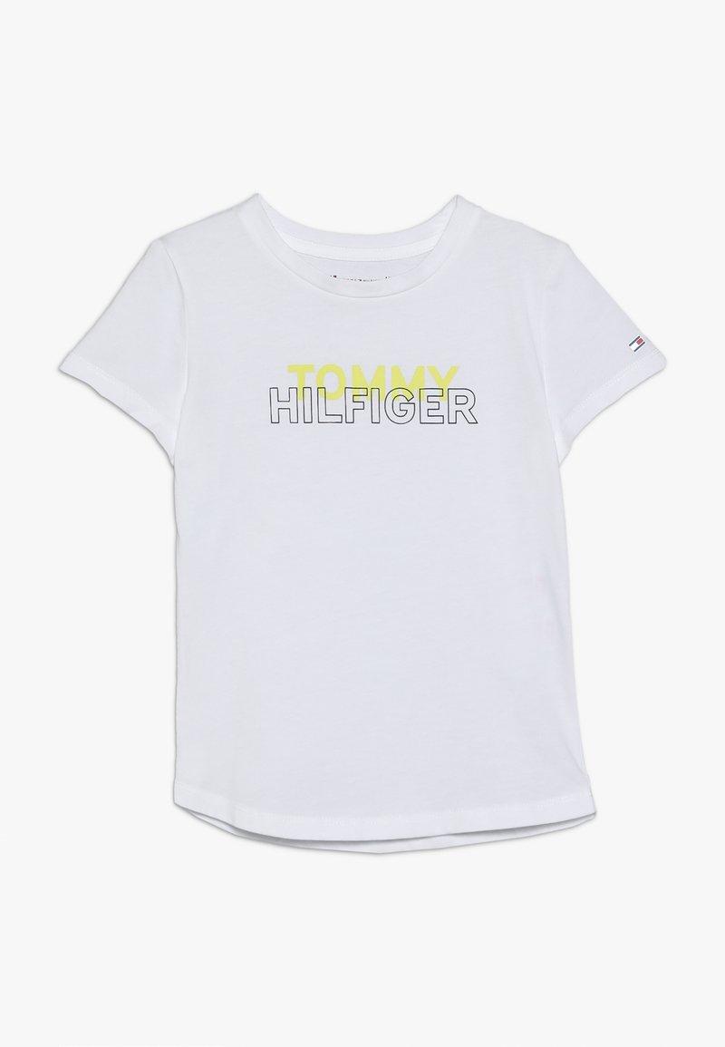 Tommy Hilfiger - SPORT LOGO TEE - T-shirt z nadrukiem - classic white