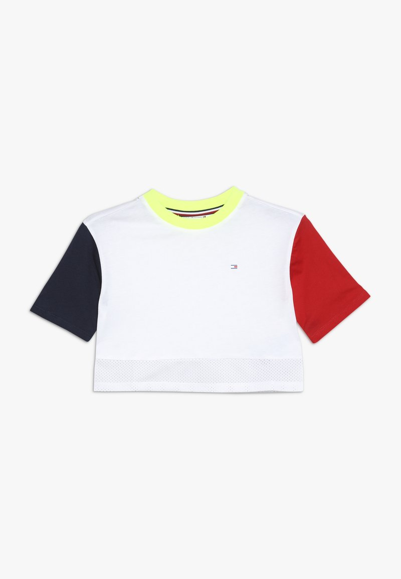 Tommy Hilfiger - SPORT COLORBLOCK TEE  - T-shirt con stampa - classic white