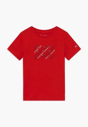 SPORT LOGO TEE - T-shirt imprimé - red