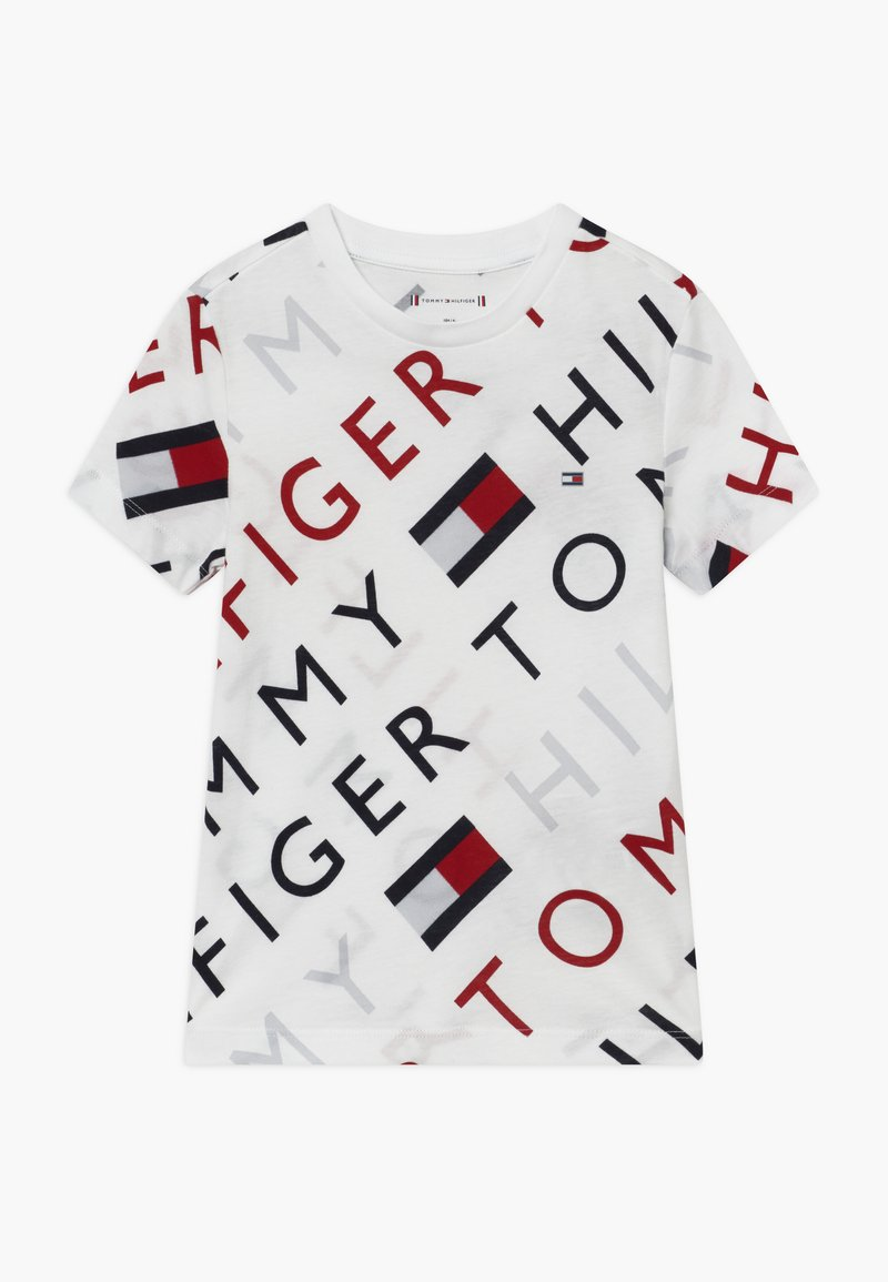 Tommy Hilfiger - SPORTS LOGO TEE - T-shirt med print - white