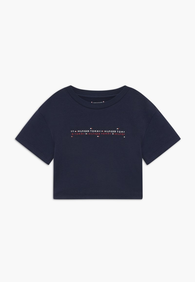Tommy Hilfiger - SPORT BOXY LOGO TEE - T-shirt z nadrukiem - blue