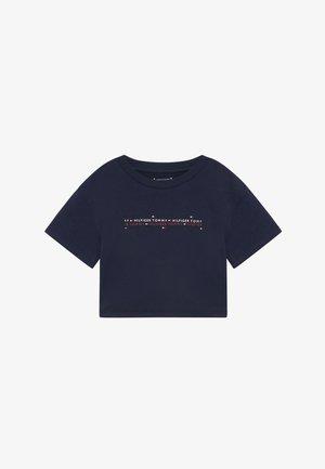SPORT BOXY LOGO TEE - T-shirt z nadrukiem - blue