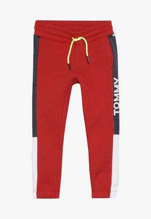 SPORT COLORBLOCKPANT - Teplákové kalhoty - haute red