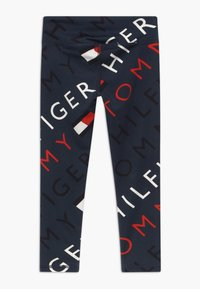 Tommy Hilfiger - SPORTS PRINTED LOGO - Legginsy - blue - 1