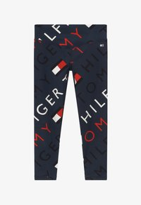 Tommy Hilfiger - SPORTS PRINTED LOGO - Legginsy - blue