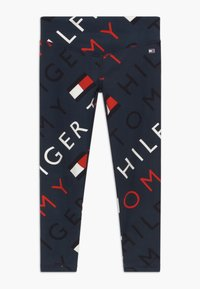Tommy Hilfiger - SPORTS PRINTED LOGO - Legginsy - blue - 0
