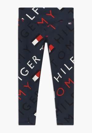 SPORTS PRINTED LOGO - Collants - blue