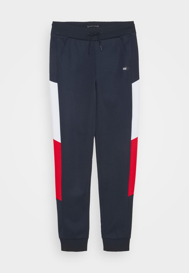 SPORT COLORBLOCK PANT - Tracksuit bottoms - blue