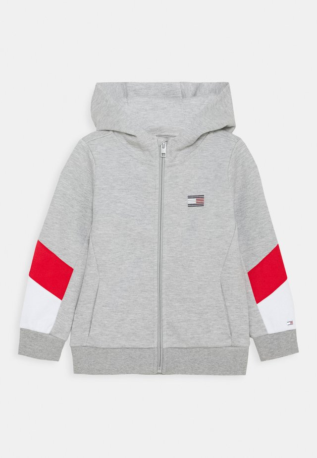 SPORT COLORBLOCK ZIP THROUGH - Zip-up hoodie - grey