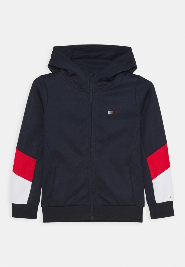 SPORT COLORBLOCK ZIP THROUGH - Zip-up hoodie - blue