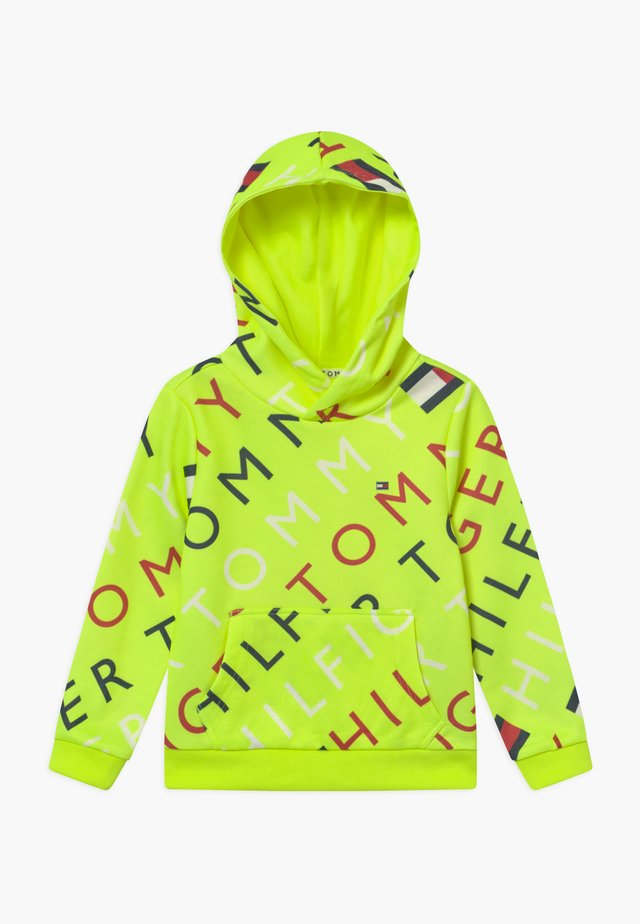 SPORTS PRINTED LOGO HOODIE - Hoodie - yellow