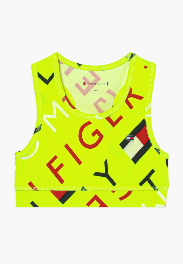 SPORTS PRINTED LOGO - Sports bra - yellow