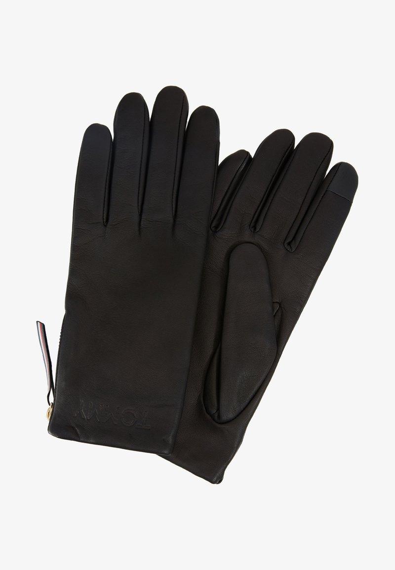 Tommy Hilfiger - CORPORATE DETAIL GLOVES - Gloves - black