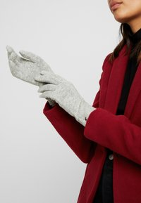 Tommy Hilfiger - FLAG KNIT GLOVES - Gants - grey - 0
