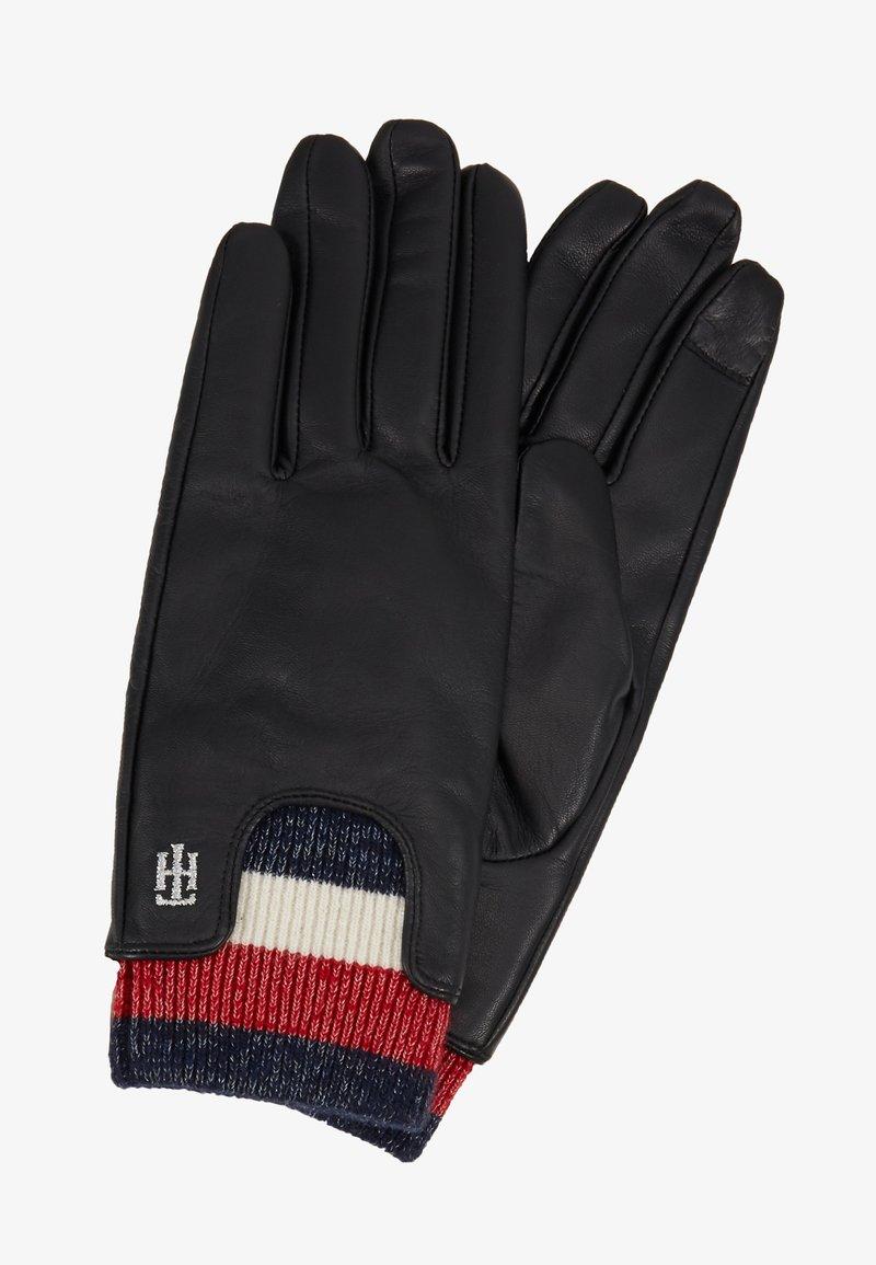 Tommy Hilfiger - CORPORATE GLOVES - Gloves - black
