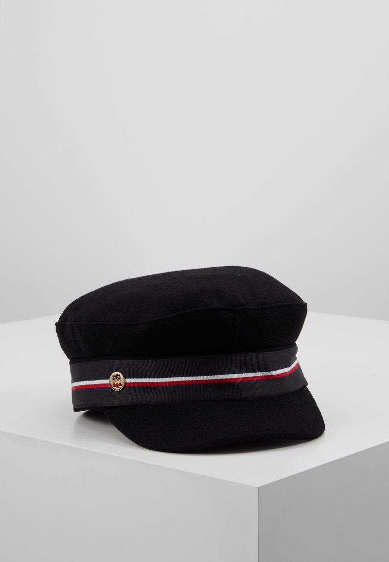 Tommy Hilfiger - BAKER BOY HAT MELTON - Beanie - black