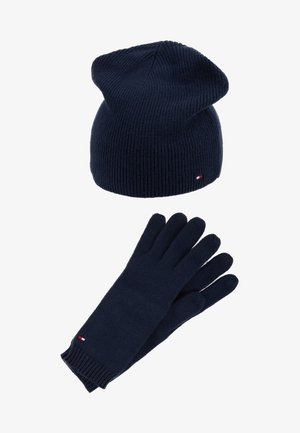 FLAG BEANIE & GLOVES SET - Guantes - blue