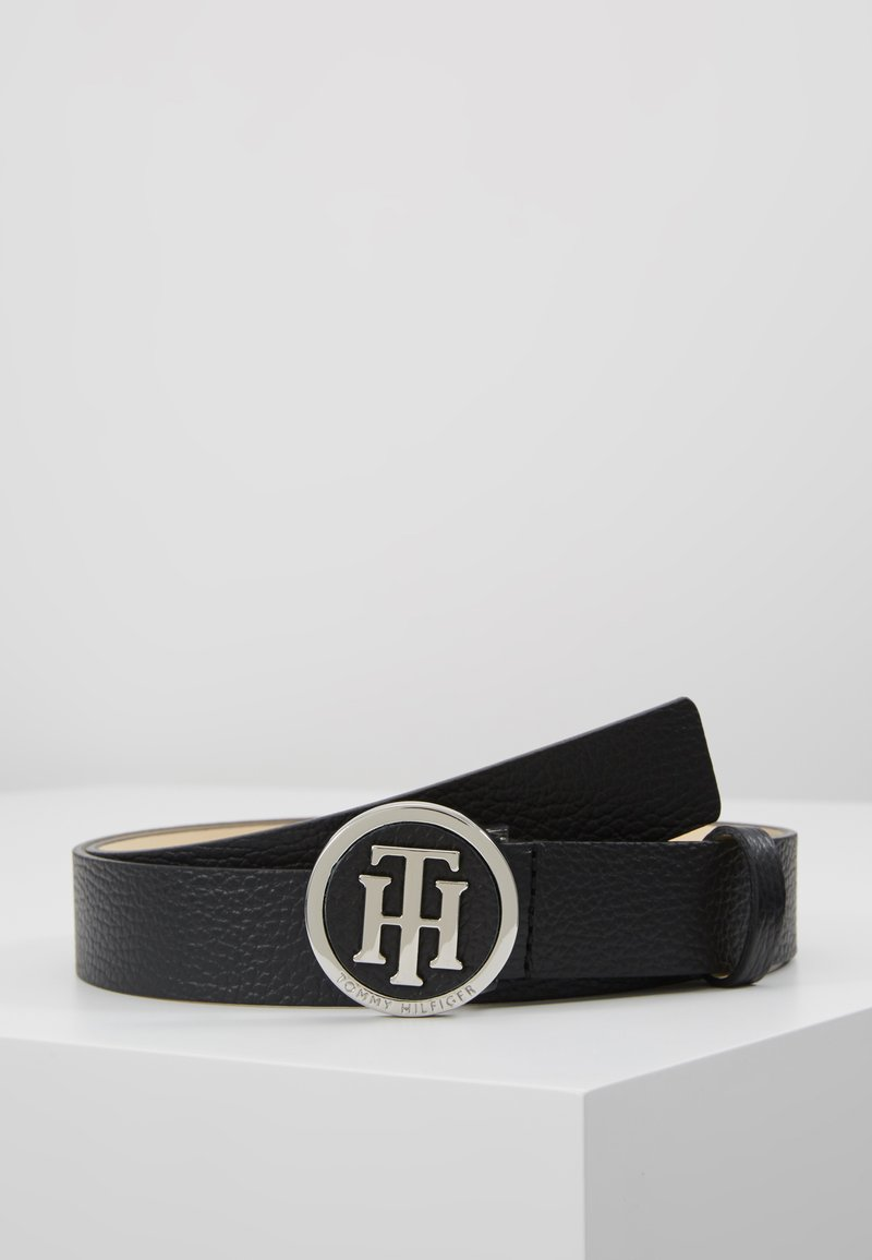 Tommy Hilfiger - ROUND BUCKLE BELT - Cintura - black