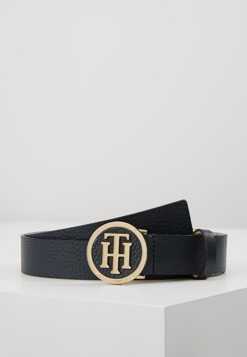 Tommy Hilfiger - ROUND BUCKLE BELT - Belt - blue