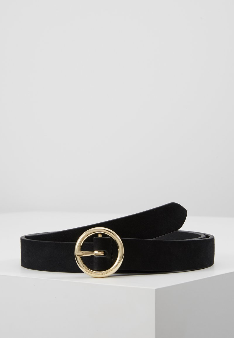 Tommy Hilfiger - ROUND BUCKLE BELT - Belt - black