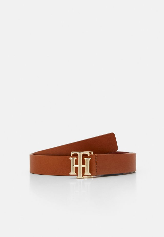 LOGO BELT - Gürtel - brown