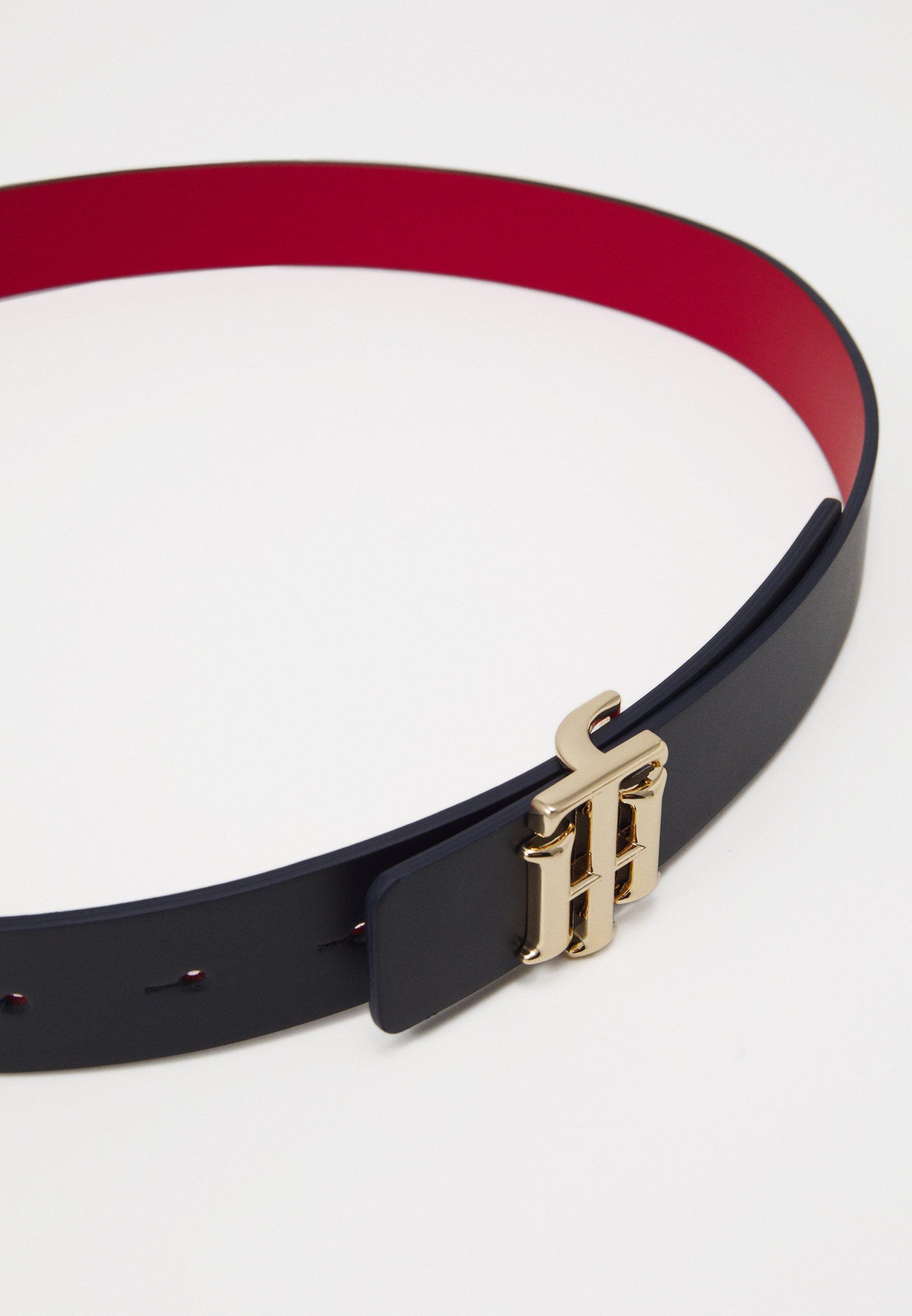 REVERSIBLE LOGO BELT Belt reddark blue