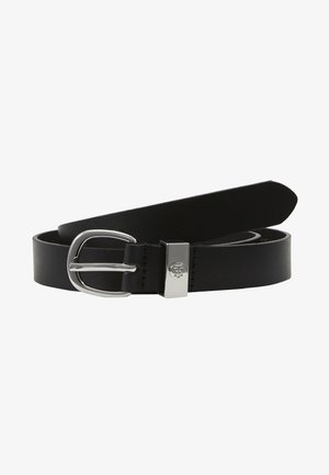 OVAL BUCKLE BELT - Belt - black