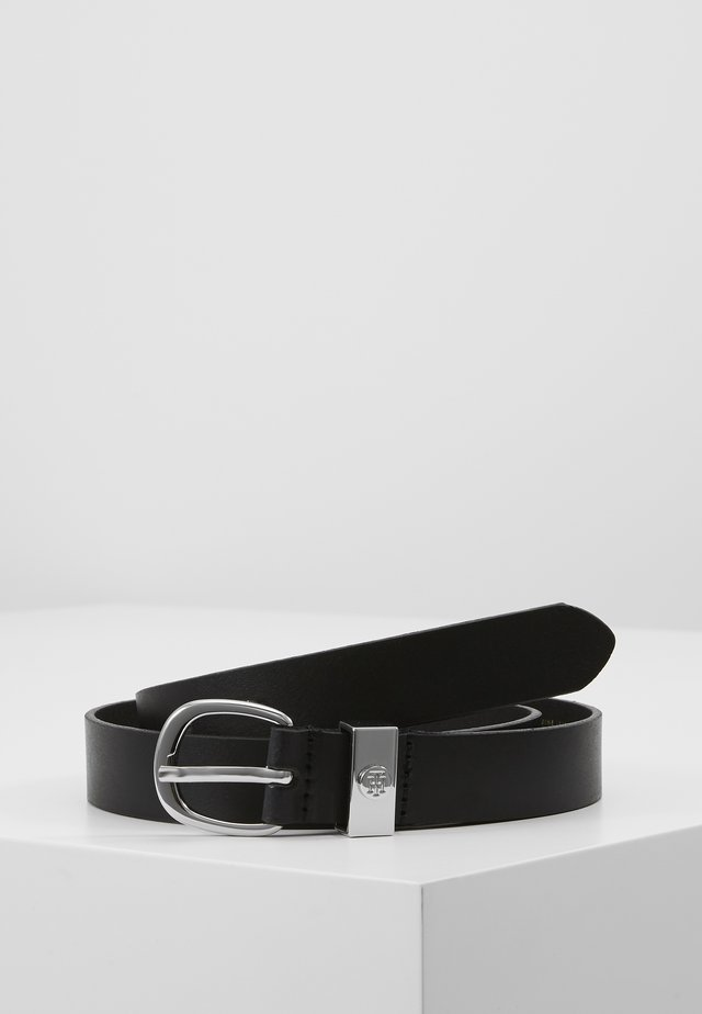 OVAL BUCKLE BELT - Riem - black