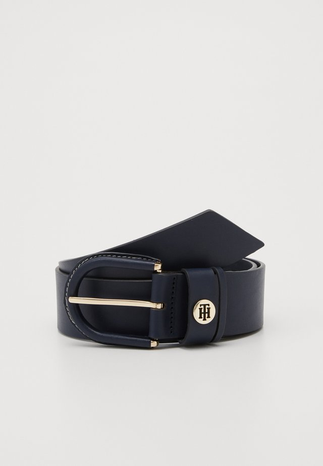 HIGH WAIST OVAL BUCKLE BELT - Taillengürtel - blue