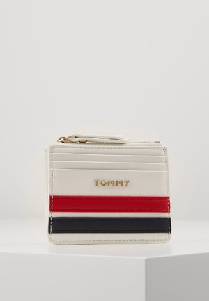 TOMMY STAPLE CC HOLDER - Peněženka - white