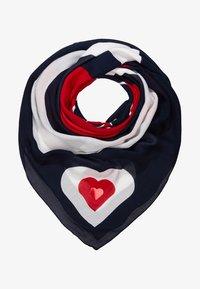 Tommy Hilfiger - MASCOT HEART SQUARE - Foulard - blue - 1