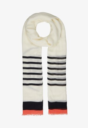 POPPY BRETON STRIPES SCARF - Šála - white