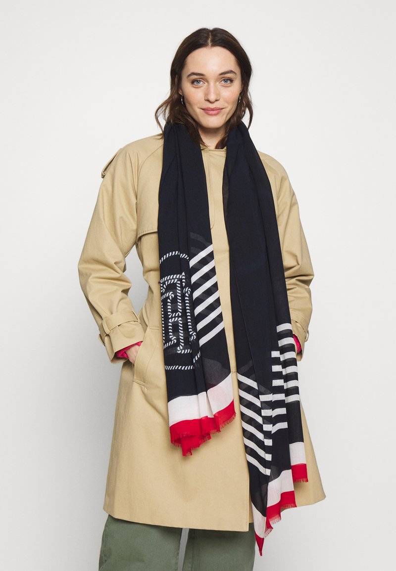 Tommy Hilfiger - POPPY BRETON STRIPES SCARF - Sjal - blue