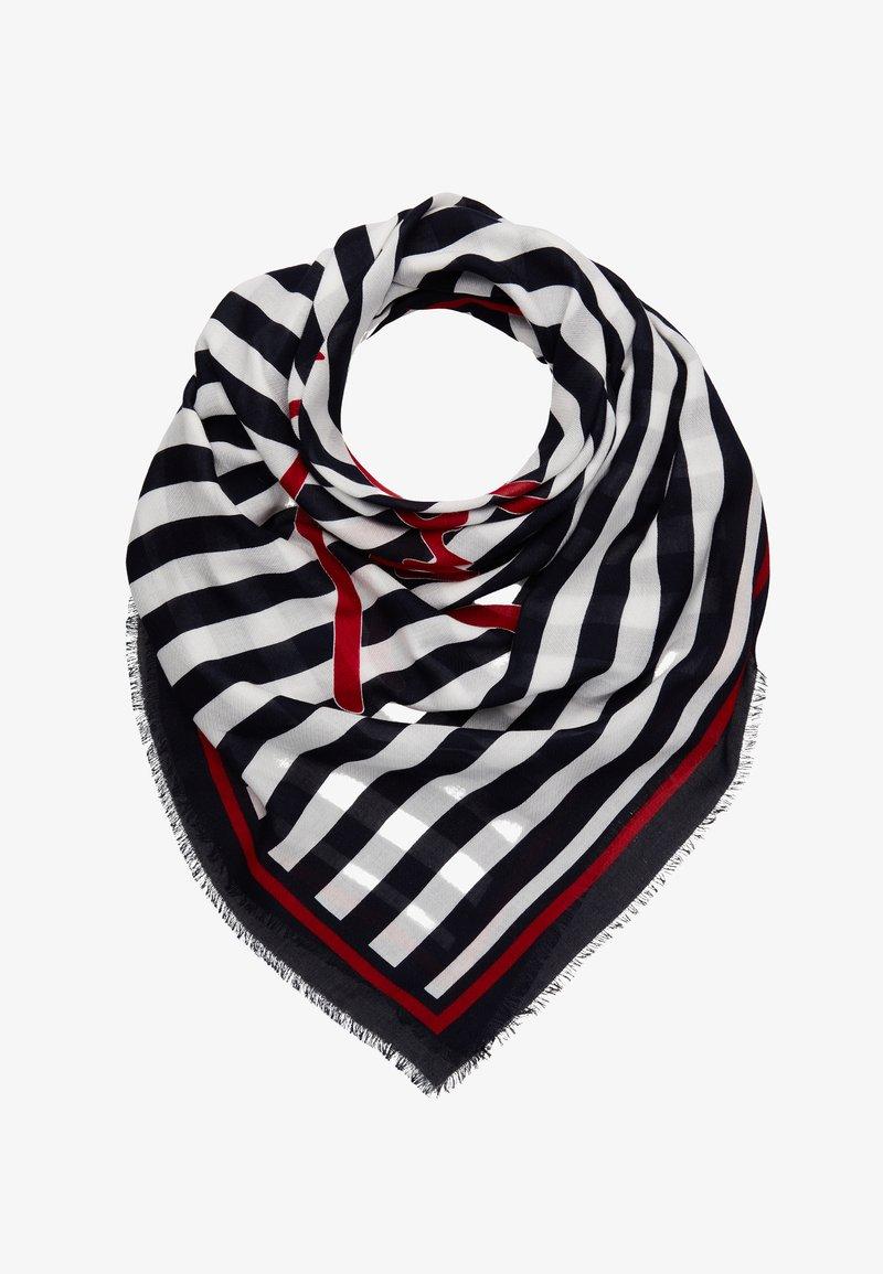Tommy Hilfiger - SIGNATURE SQUARE - Tørklæde / Halstørklæder - dark blue/white/red
