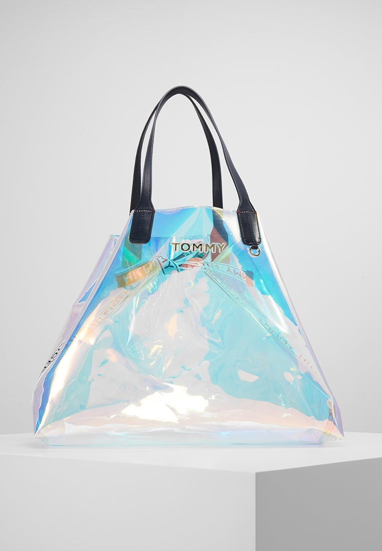 Tommy Hilfiger - ICONIC TOTE IRRI - Shopping bag - silver