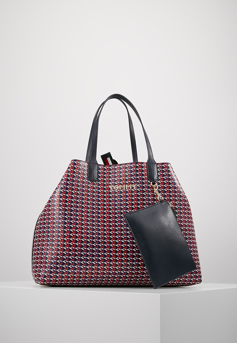 Tommy Hilfiger - ICONIC TOTE MONO - Shopping Bag - red