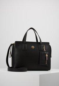Tommy Hilfiger - CHARMING TOMMY SATCHEL - Handbag - black - 0