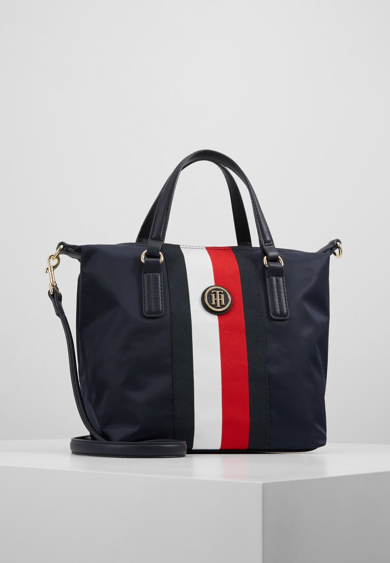 Tommy Hilfiger - POPPY SMALL TOTE CORP - Bolso de mano - blue